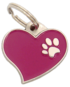 HEART PURPLE - pet ID tag, dog ID tags, pet tags, personalized pet tags MjavHov - engraved pet tags online